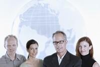 business team globe
